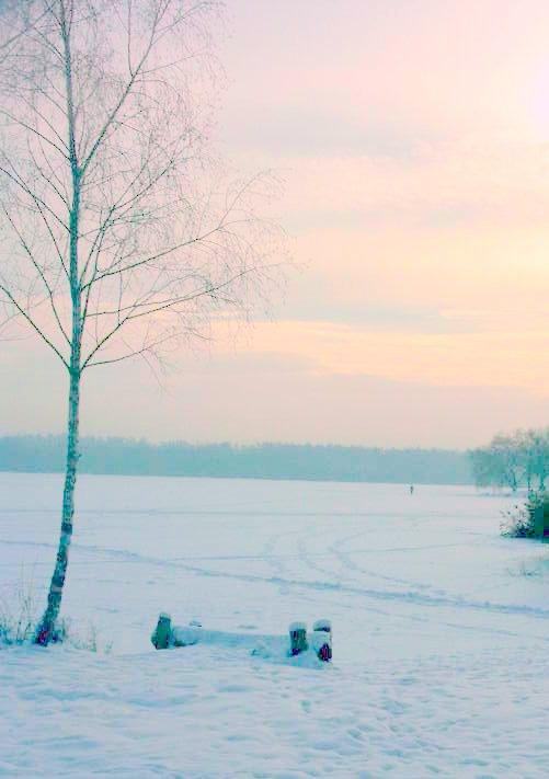 Zima na jeziorze Paprocańskim